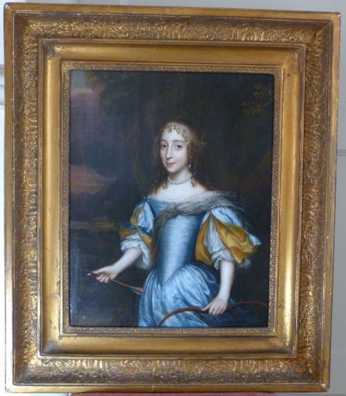 portrait of a young lady as diana the huntress c1635 circle of jan mytens