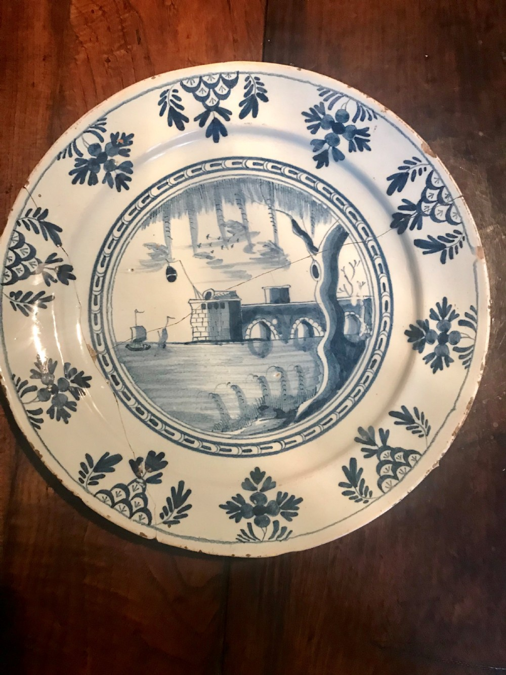delft charger 18th century